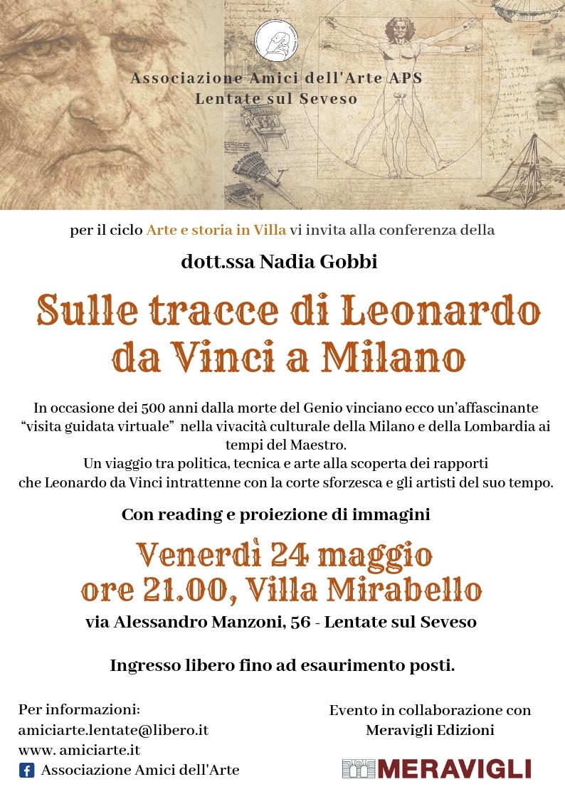 Venerdì 24 maggio – Leonardo da Vinci a Milano